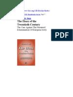 3837148 Arthur r Butz the Hoax of the Twentieth Century