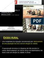 AULA - exodo rural - urbanização