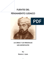 Fuentes Del Pensamiento Judaico, R.J.A