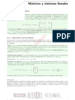 Matrices y Sistemas LinealesS