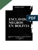 Crespo a - Esclavos Negros en Bolivia