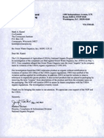 USDA letter regarding SWO