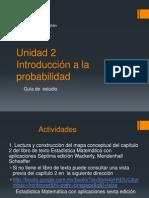 Guia de Estudio Unidad 2 Introduccion a La Probabilidad