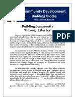 Building Community Through Literacy