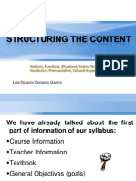 Structuring the Content- Parts of a Syllabus Octavio Canseco