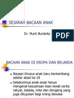 Sejarah Bacaan Anak - Dr. Murti Bunanta