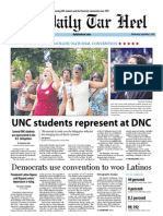 The Daily Tar Heel for September 5, 2012