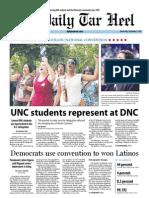 The Daily Tar Heel for September 5, 2012
