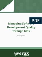 Managing Sw Development Quality Through Kpis