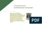 US Army Pistol Marksmanship Training Guide