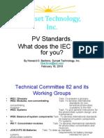 Lista Standarde IEC PV