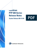 Cambium PTP 600 Series 10-04 System Release Note