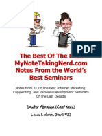 MyNoteTakingNerd Best of the Best Report