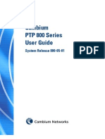 Cambium Network PTP 800 Series 05-01 User Guide