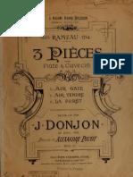 3 Pieces Flute z7 Clavesin