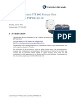 Cambium Network PTP 800 Series 05-00 System Release Note