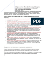 legendary.discoveries.2(NewDraft) New facts on hazardous biological and toxic effects of surfactants and detergents, paradigm shifted on bioassay to assess environmental hazards of chemicals.book http://www.scribd.com/doc/104967169/