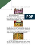 Kerajinan Tangan Kaum Wanita Kalimantan Timur