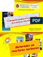HUGO MARTIN ATOMICA CORDOBA MATERIALES EN REACTORES NUCLEARES