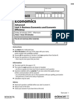 Economics January 2010 Unit 3 QP