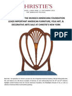 Important American Furniture, Folk Art & Decorative Arts- New York, 24 September