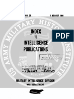 Intelligence Bulletin Index