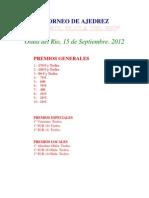 I Torneo de Ajedrez Marmol Olula Del Rio