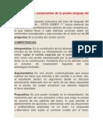 Competencias y Componentes de La Prueba Lenguaje Del Examen Icfes