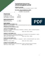 CENTRO METEOROLÓGICO REGIONAL AUSTRAL MIERCOLES 05 DE SEPTIEMBRE 2012