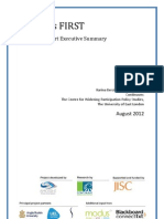 Students FIRST Research Report Executive Summary Final August 2012