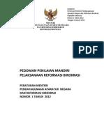 Permenpan2012_001 Lampiran Buku Pedoman Penilaian Mandiri Rb