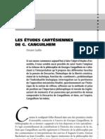 LES ÉTUDES CARTÉSIENNES. DE G. CANGUILHEM. Vincent