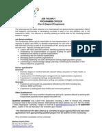 Program Officer Alliance 14 Sept 2012