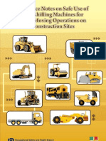 Guidance Notes on Safe Use of Loadshifting Machines for Earth Moving Operations on Construction Sites