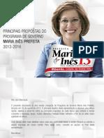 Principais Propostas do Programa de Governo Maria Inês Prefeita