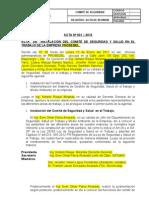 ACTA DE FORMACIÓN DE COMITÉ DE SEGURIDAD Y SALUD EN EL TRABAJO