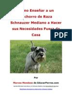 Como Enseñar a un Cachorro de Raza Schnauzer Mediano a Hacer sus Necesidades Fuera de Casa