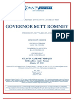 Mitt Romney Atlanta fundraiser September 19, 2012