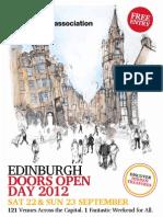 Edinburgh Doors Open Day 2012 Brochure