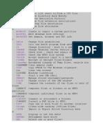 LIST of Cmd Commands