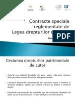 Contracte Speciale Reglementate de Legea Dr de Autor