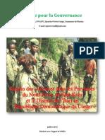 Regain Des Violences Dans Les Provinces Du Nord Kivu Sud-kivu Et Le District de Lituri