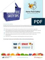 Grocery Tote Safety Tip Sheet