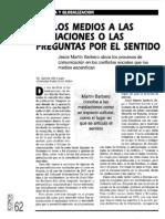 De Los Medios a Las Mediaciones - Jesús Martín-Barbero
