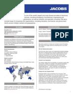 Jacobs Company Fact Sheet