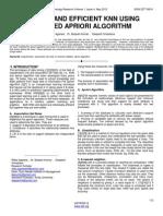 A Novel and Efficient Knn Using Modified Apriori Algorithm