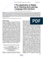 A Study of the Application of Digital Technologies in Teaching and Learning English Language and Literature