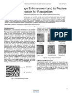 Fingerprint Image Enhancement and Its Feature Extraction for Recognition