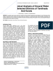 Physico Chemical Analysis of Ground Water Samples of Selected Districts of Tamilnadu and Kerala