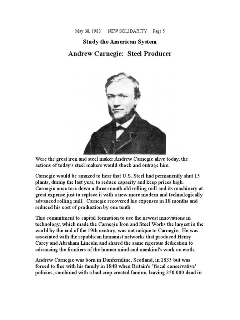 Andrew Carnegie - Steel Producer | Andrew Carnegie | The